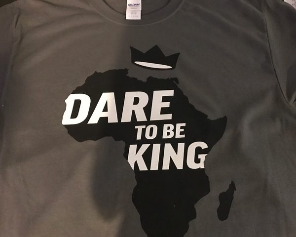 Dare to be King Charcoal T-shirt
